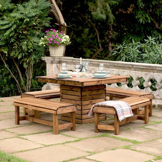 Garden Table And Benches Lodge Collection Rspb Shop