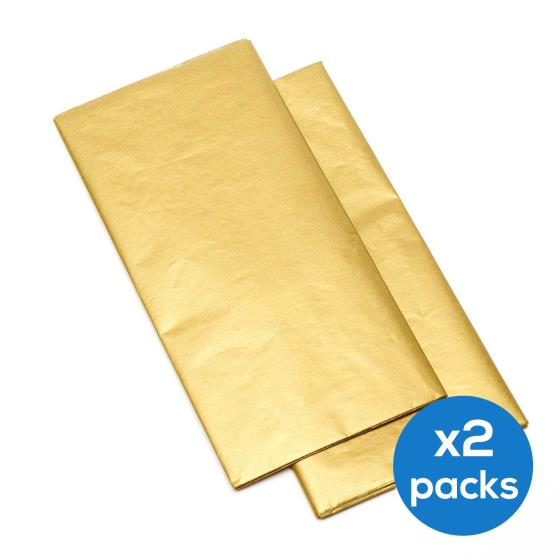 Gold tissue paper, two packs product photo Default L
