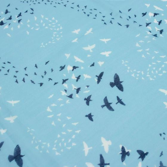 Starling murmuration RSPB cotton scarf, light blue product photo Side View -  - additional image 3 L
