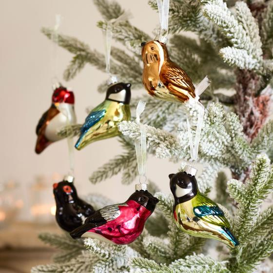 RSPB Glass bird decorations product photo