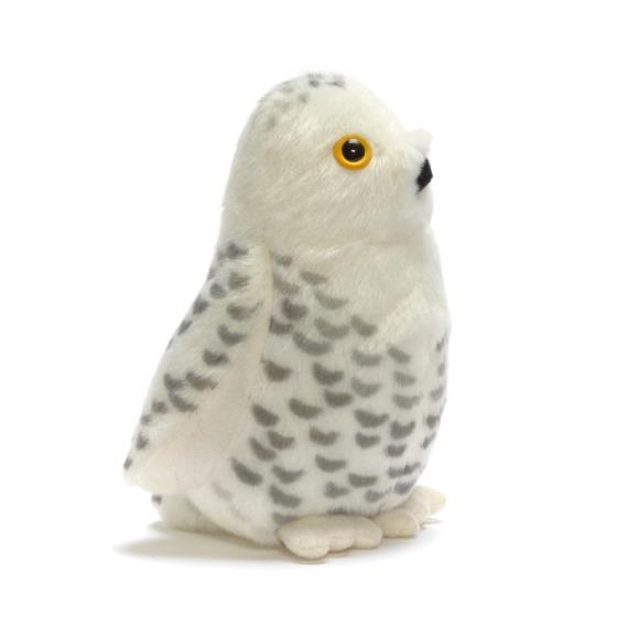 RSPB singing snowy owl soft toy product photo Default L