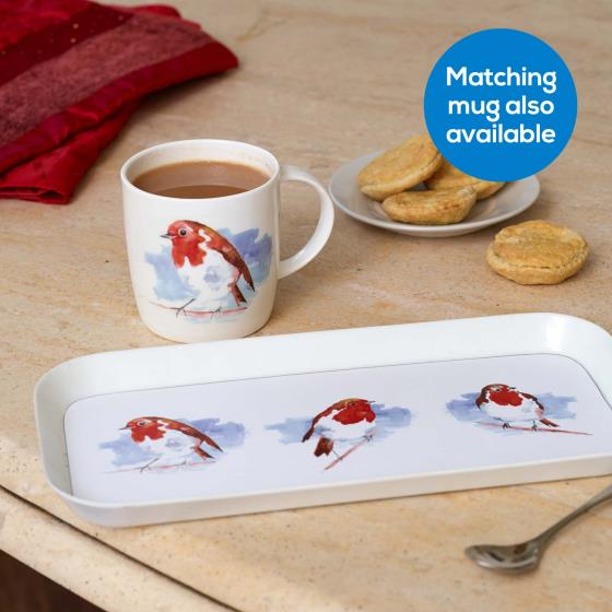 Robin tea tray product photo Back View -  - additional image 2 L