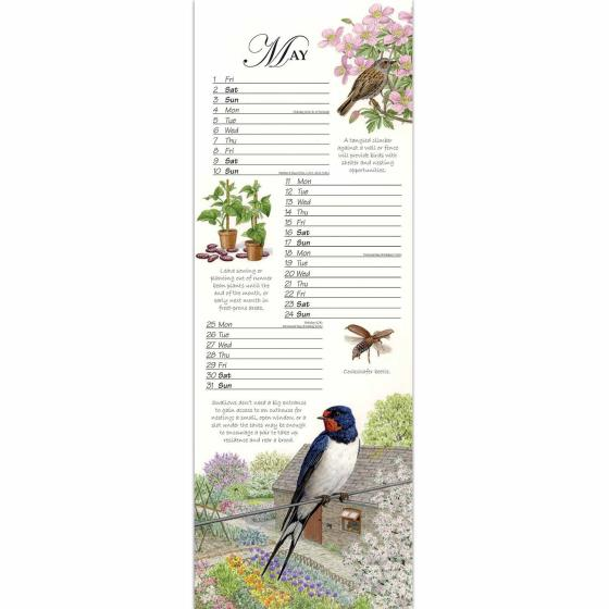 RSPB Friends and Neighbours calendar 2020 product photo Back View -  - additional image 2 L