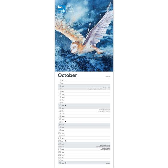 RSPB Illustrated birds calendar 2020 product photo Side View -  - additional image 3 L