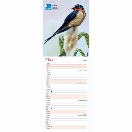 RSPB Illustrated British birds calendar 2020 product photo Back View -  - additional image 2 L
