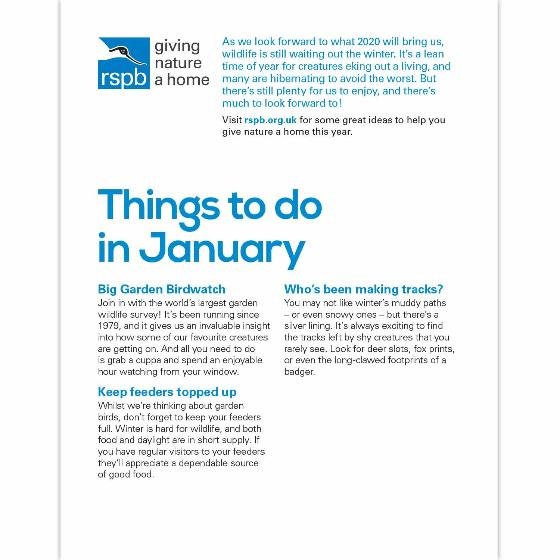 RSPB Inspiring nature diary 2020 product photo Back View -  - additional image 2 L