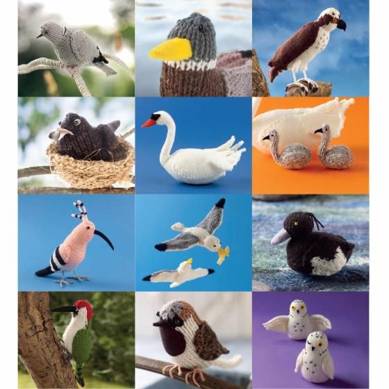 RSPB Knitted birds calendar 2020 product photo Back View -  - additional image 2 L