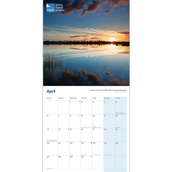 RSPB Nature reserves calendar 2020 product photo Side View -  - additional image 3 L