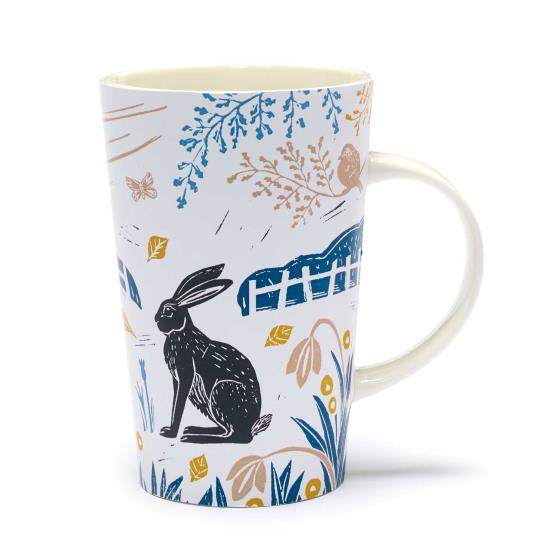 RSPB Nature's print hares latte mug product photo