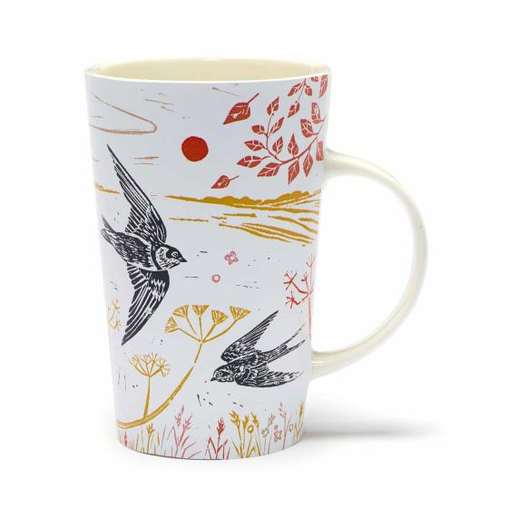 RSPB Nature's print swallows latte mug product photo Default L