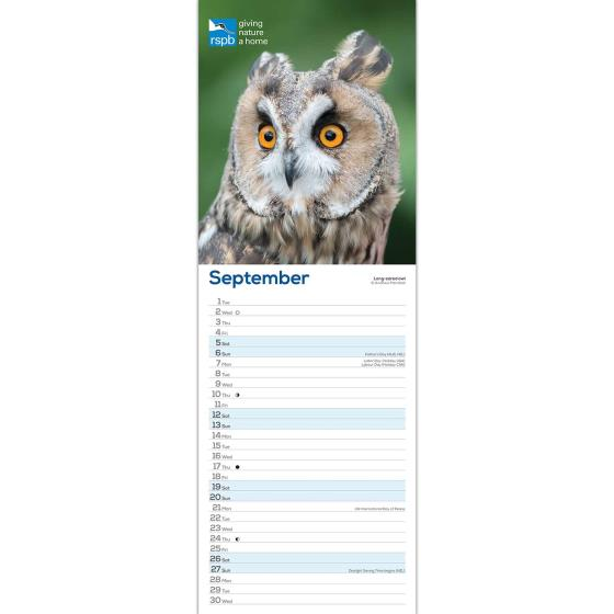 RSPB Owls calendar 2020 product photo Side View -  - additional image 3 L