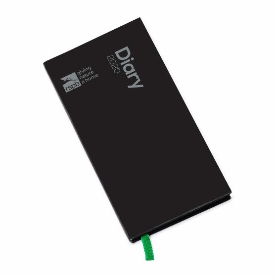 RSPB Pocket diary 2020, black cover product photo