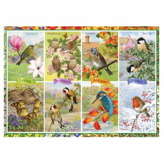Seasonal garden birds jigsaw product photo Front View - additional image 1 L