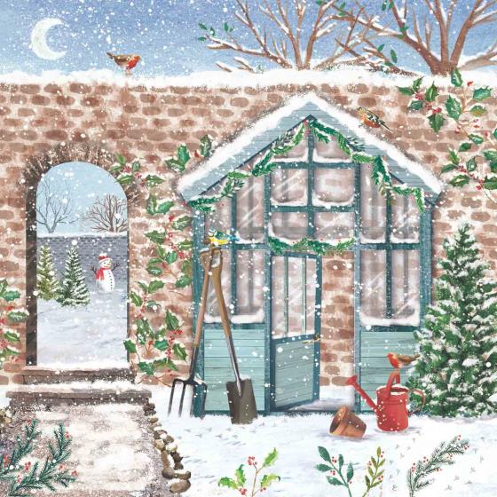 Secret garden RSPB charity Christmas cards - 10 pack product photo Default L