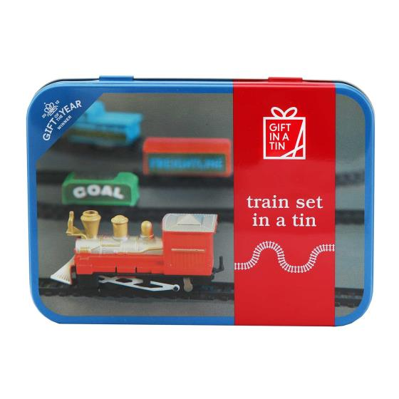 Train set in a tin product photo Front View - additional image 1 L