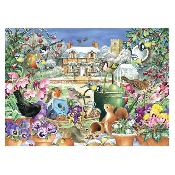 Winter garden jigsaw product photo Front View - additional image 1 L