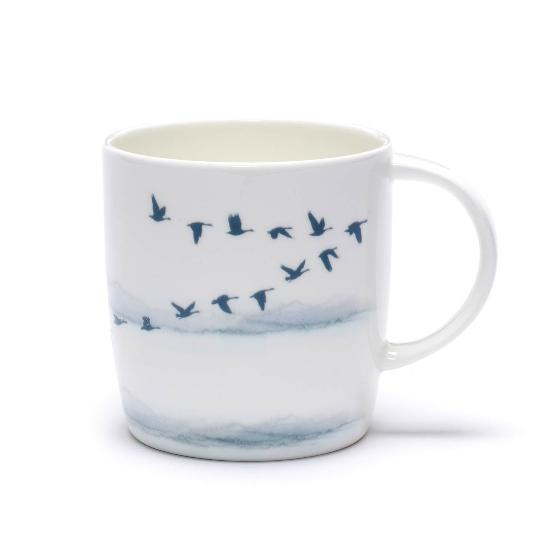 Winter Skies geese mug product photo