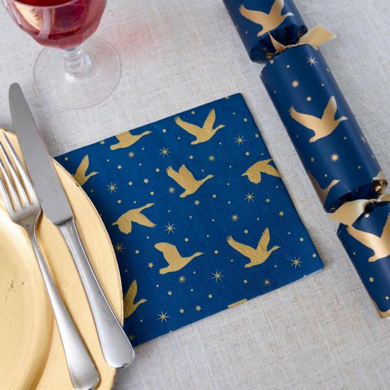 Winter skies napkins product photo Side View -  - additional image 3 L