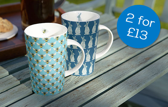 2 for £13 latte mugs