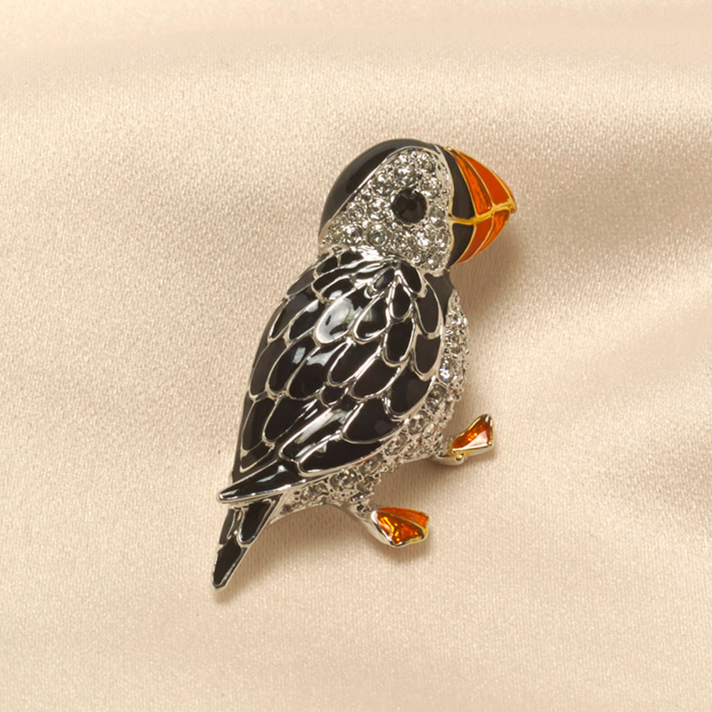 Puffin brooch by Bill Skinner product photo