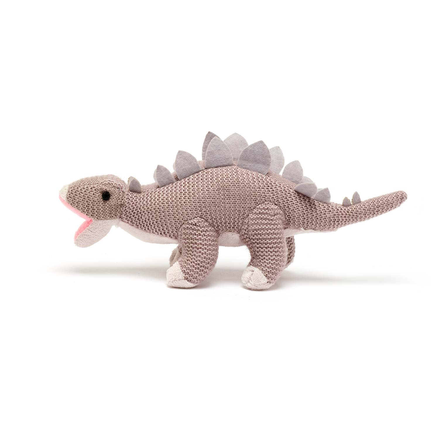 Stegosaurus knitted dinosaur product photo