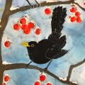 The proudest pair RSPB charity Christmas cards - 10 pack product photo Back View -  - additional image 2 T