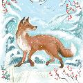 Winter wonderland RSPB charity Christmas cards - 10 pack, 2 designs product photo Side View -  - additional image 3 T