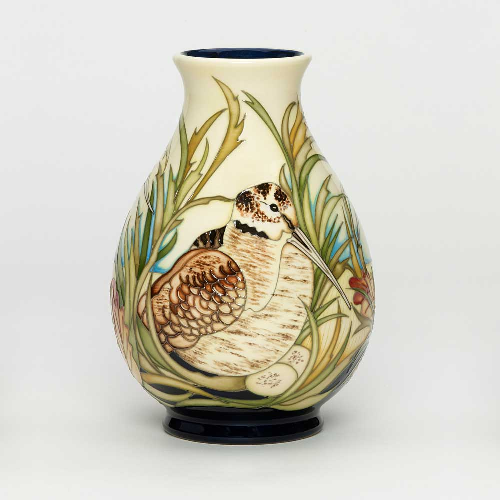 Moorcroft vase woodcock nest product photo
