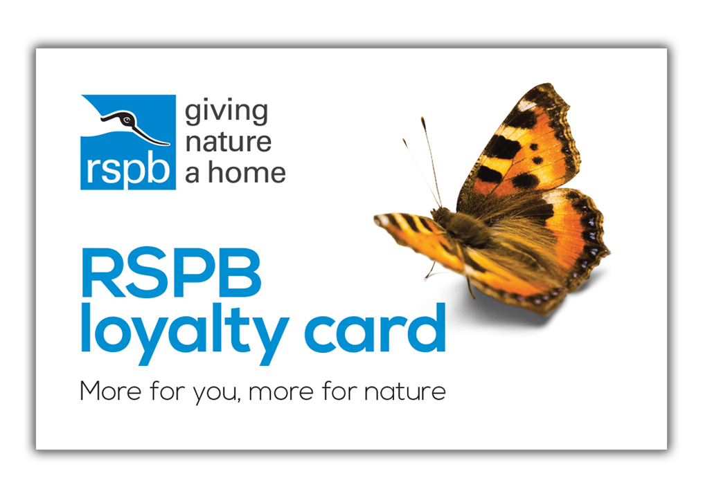 RSPB Shop loyalty card picture