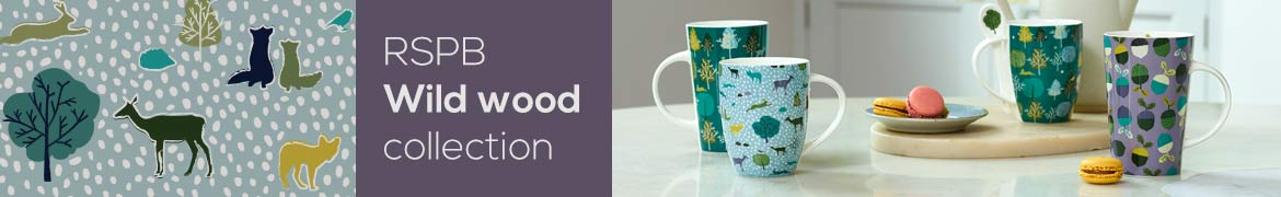 RSPB Wildwood homewares and stationery collection lifestyle banner