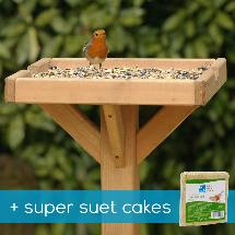 Open bird table & super suet cakes offer product photo