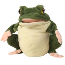 Frog hand puppet product photo