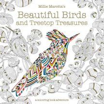 Beautiful birds and treetop treasures colouring book adventure, Millie Marotta product photo