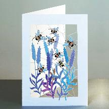 Bee laser cut card product photo