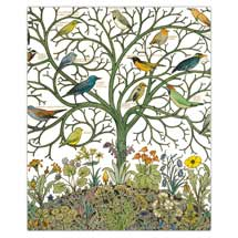 Birds of many climes greetings card product photo
