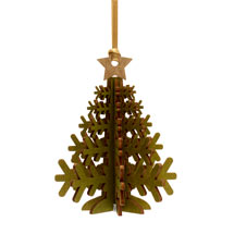 Christmas tree wooden decoration product photo