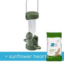 Classic easy-clean small seed feeder with 1.8kg sunflower hearts product photo