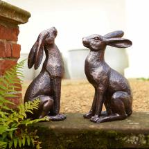 Large hare sculptures x2, special offer product photo