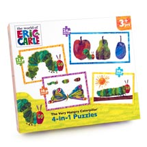 The Very Hungry Caterpillar 4in1 jigsaw puzzle set product photo