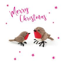 Knitted birds RSPB charity Christmas cards - 10 pack product photo