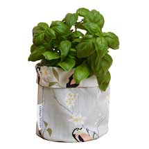 Lorna Syson fabric storage pot grey product photo