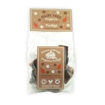 Organic dairy free chocolate vegan fudge product photo