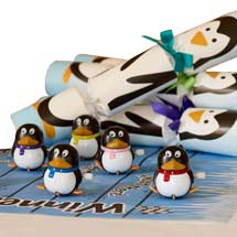 Penguin racing game crackers product photo