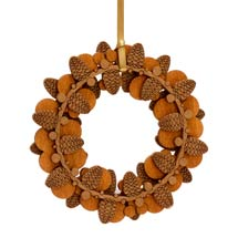 Pine cone wooden decoration product photo