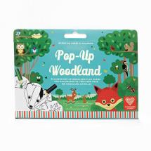 Pop up woodland scene and colouring activity product photo