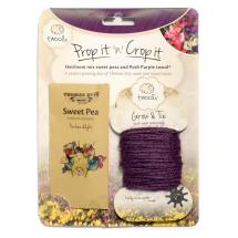 Prop it 'n' crop it sweet pea seeds and twool product photo