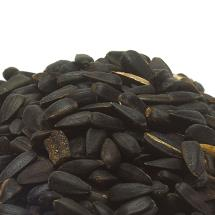 Black sunflower seeds bird food product photo