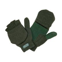 Knitted mitts green product photo