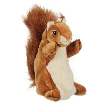 Red squirrel long hand puppet product photo