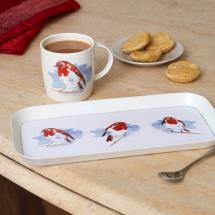 Robin mug and tea tray product photo